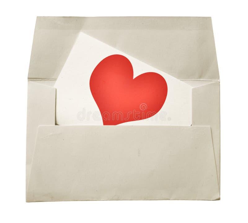 Nota e envelope do amor fotos de stock royalty free