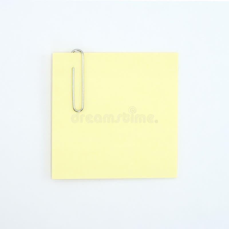 Nota e paperclip pegajosos foto de stock royalty free