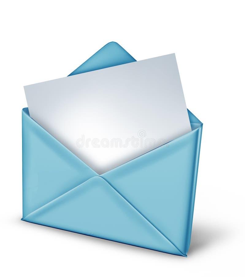 Nota em branco em um envelope ilustração royalty free