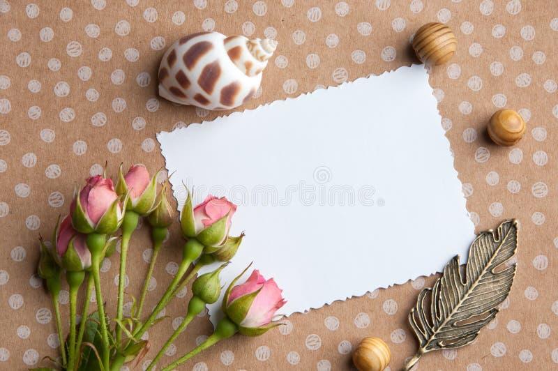 Nota en blanco blanca fotografía de archivo