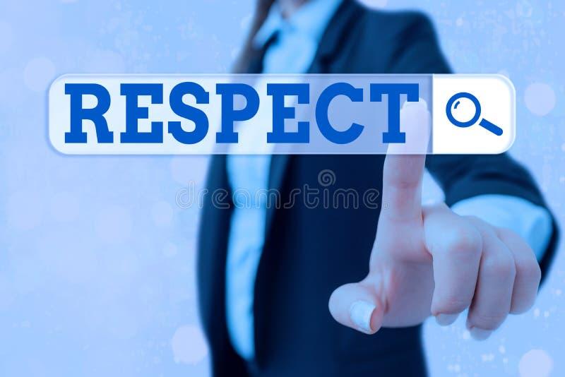 Nota escrita que muestra el respeto Fotos de negocios exhibiendo Sensación de profunda admiración por alguien o algo Apreciación imagenes de archivo