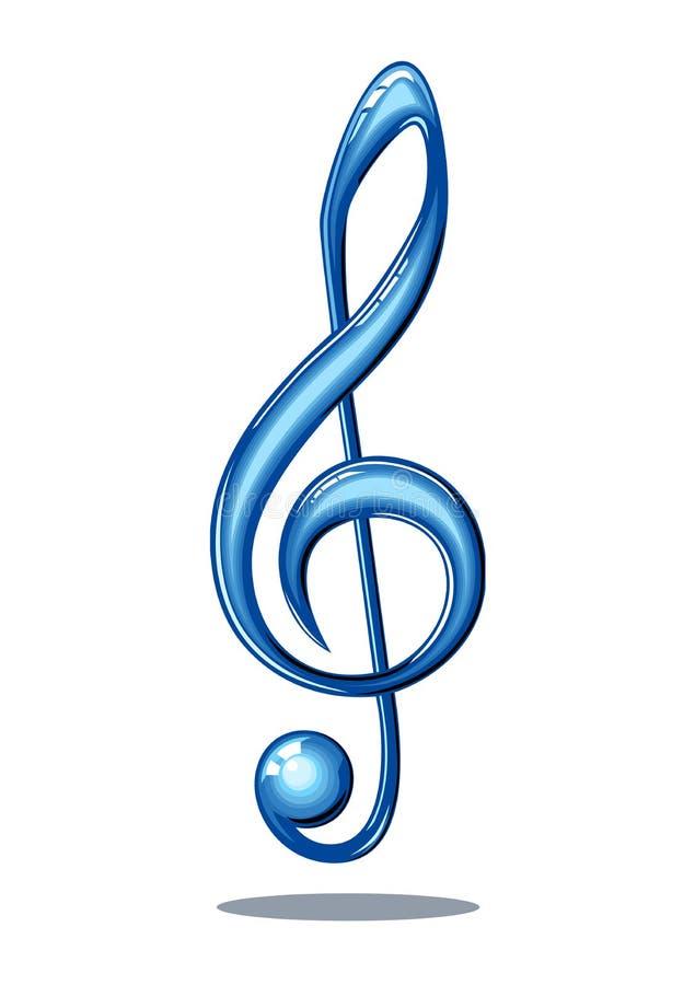Nota lustrosa da música ilustração royalty free