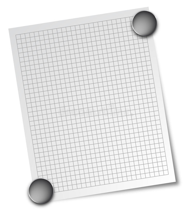 Nota met magneten stock illustratie