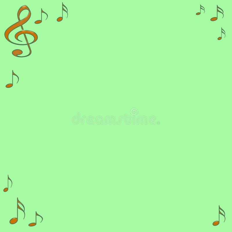 Nota musical ilustração do vetor