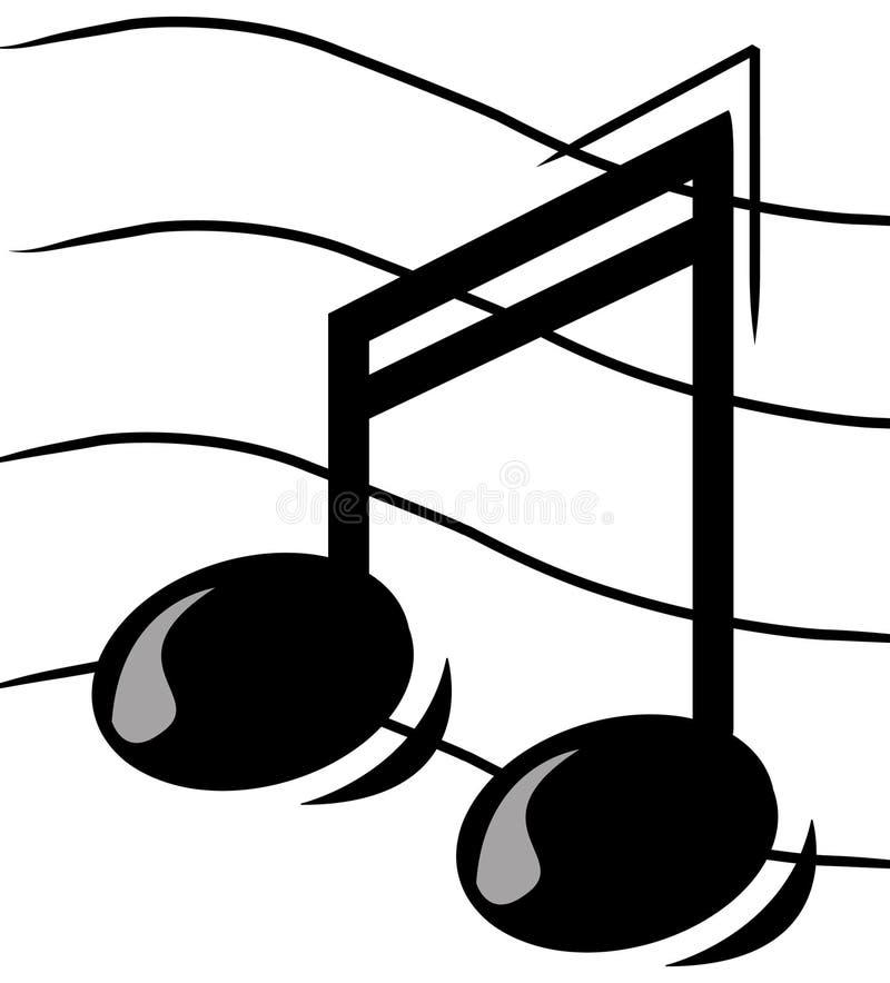 Nota musical stock de ilustración