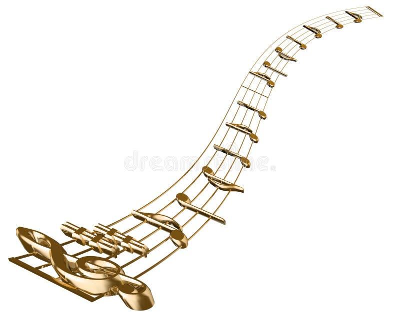 Nota musical fotografia de stock royalty free