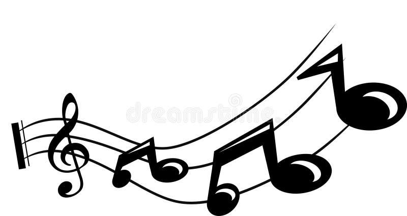 Nota musical ilustración del vector
