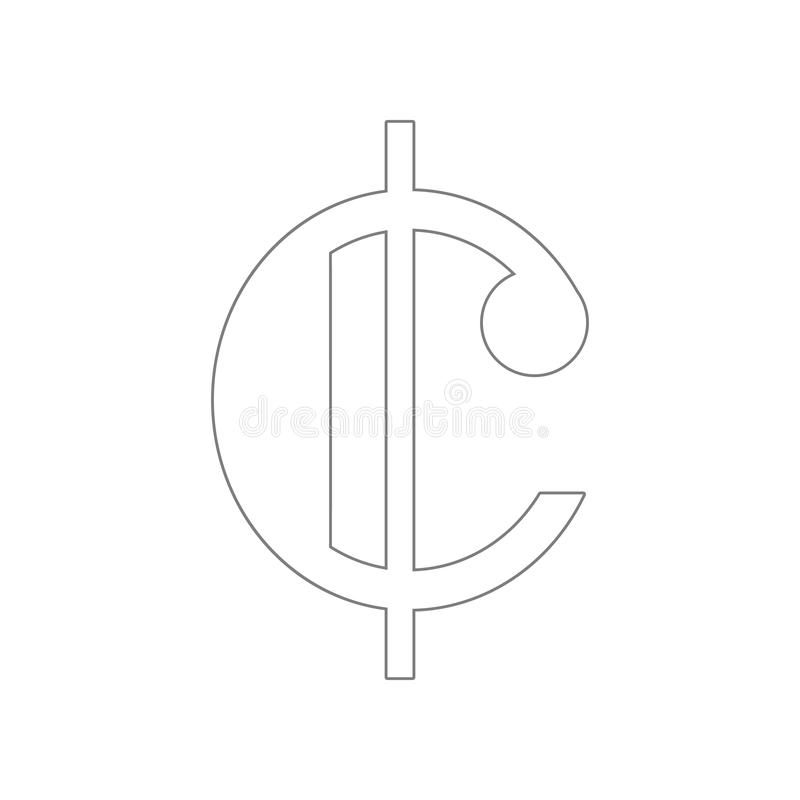 Nota musical aislada, icono cortado del tiempo Elemento de la web para el concepto y el icono m?viles de los apps de la web Esque ilustración del vector