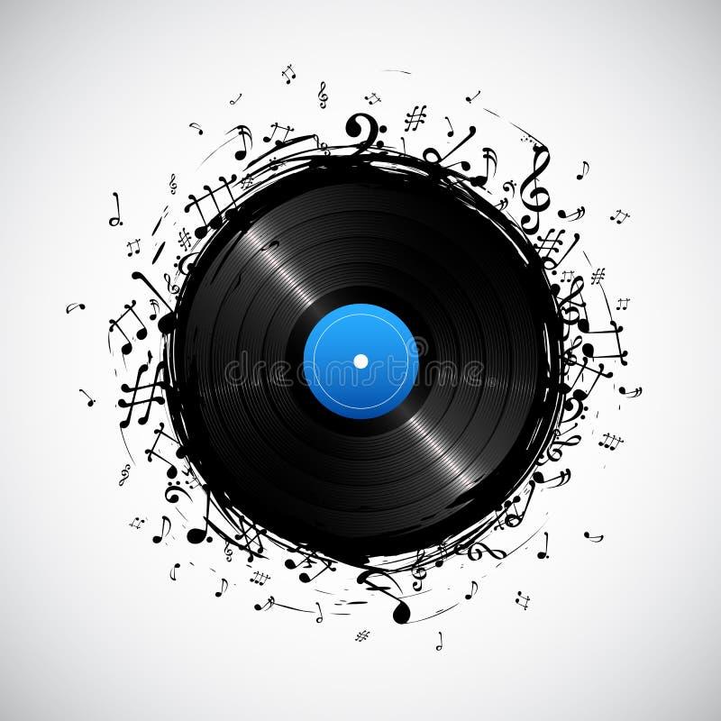 Nota musical do disco ilustração do vetor
