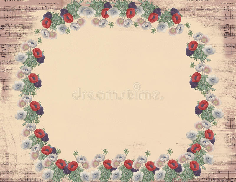 Nota musical florida romántica foto de archivo libre de regalías
