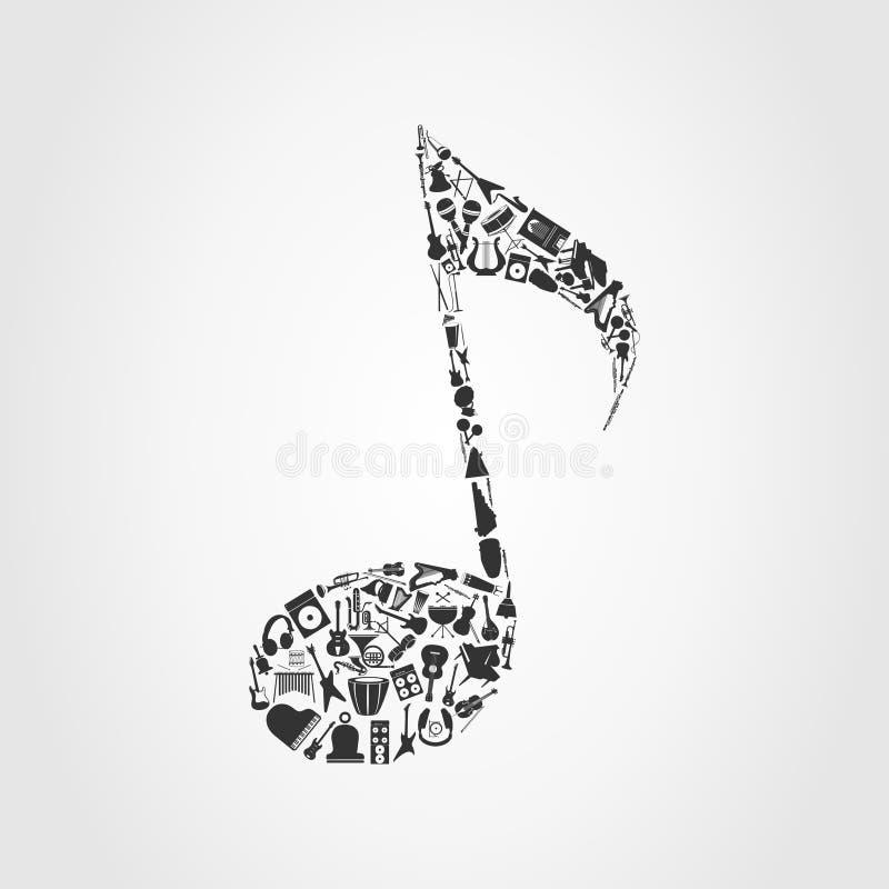 Nota musicale illustrazione di stock