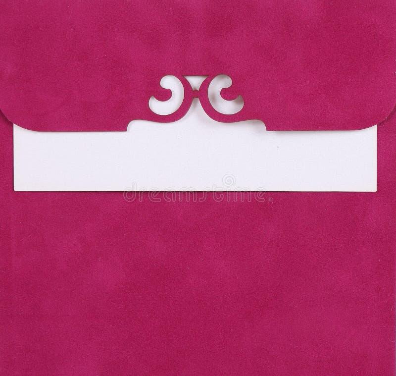 Nota rosada imagen de archivo libre de regalías