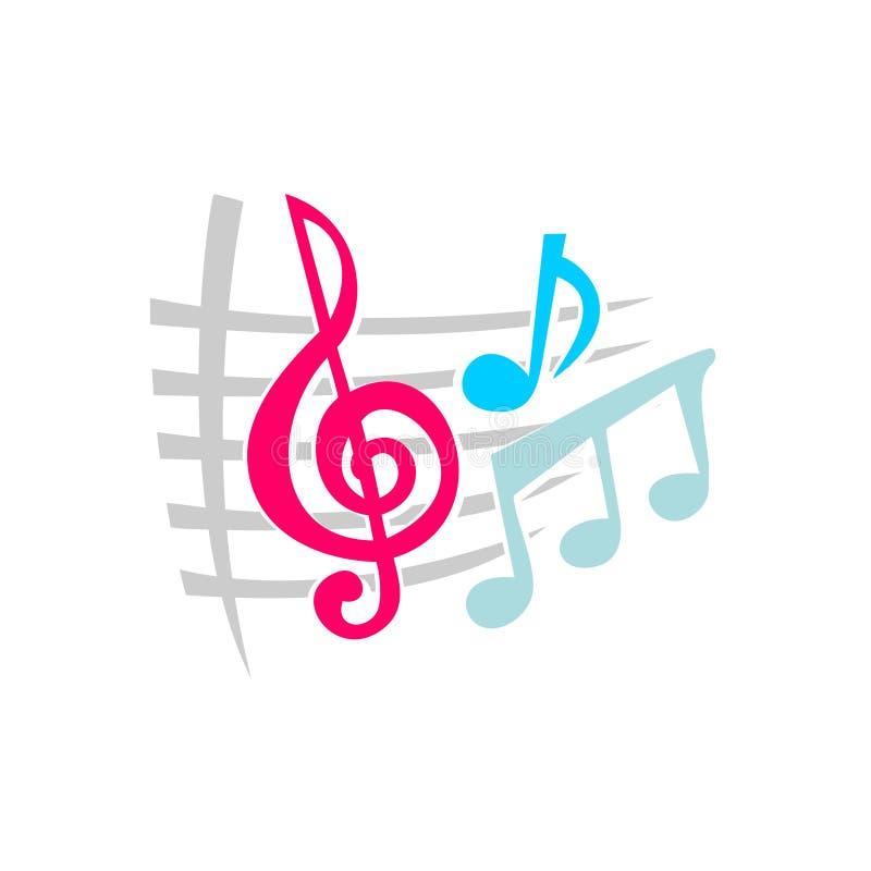 Nota símbolos de música ilustração stock