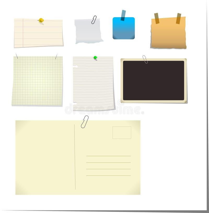 Nota's & Stickies vector illustratie