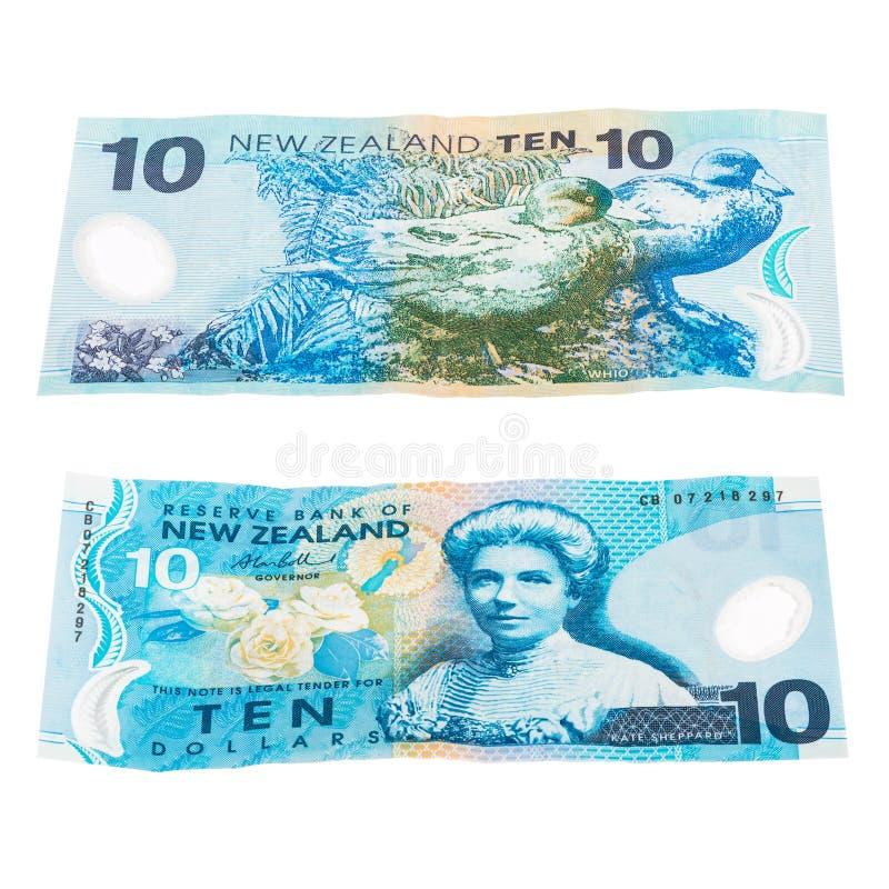 Nota's in de munt van Nieuw Zeeland stock afbeeldingen