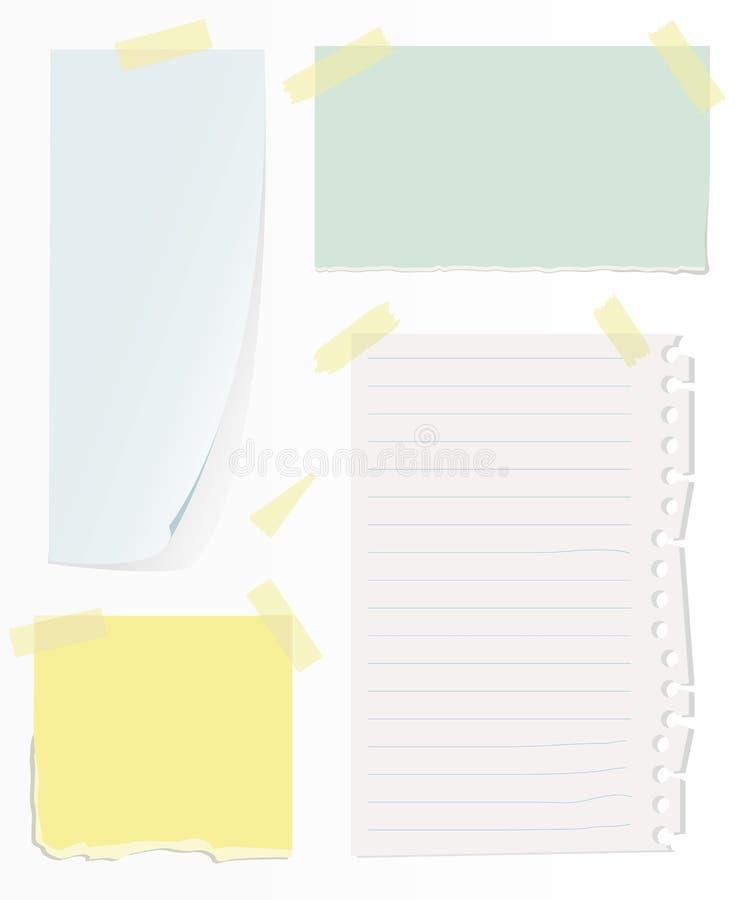 Nota's over witte muur vector illustratie