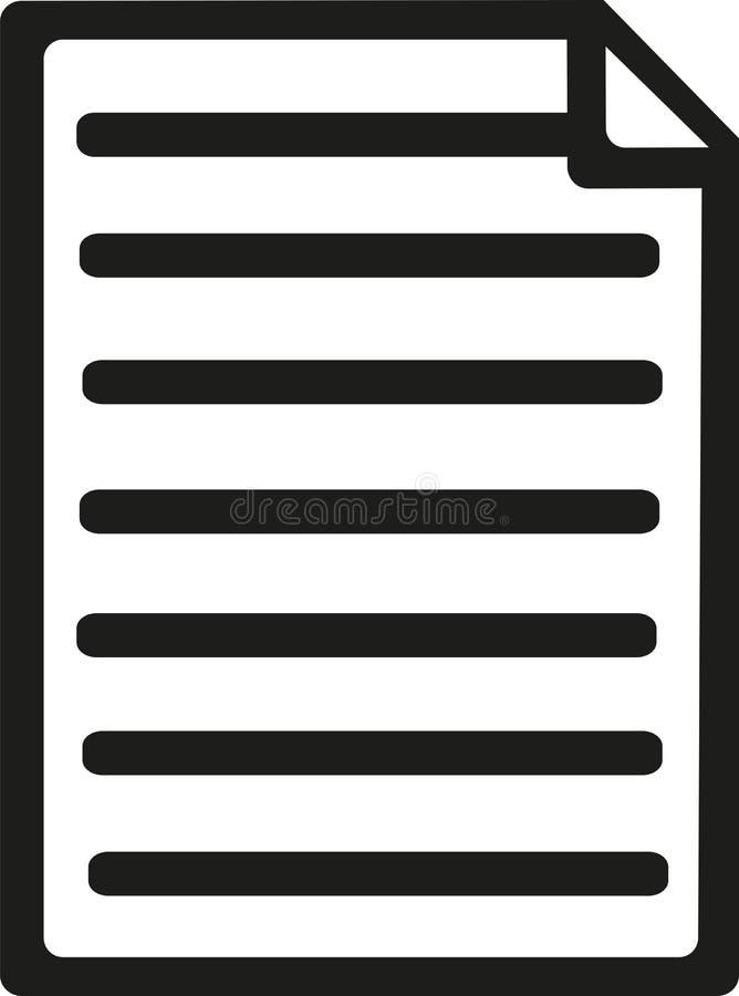 Nota'sdocument pictogram royalty-vrije illustratie