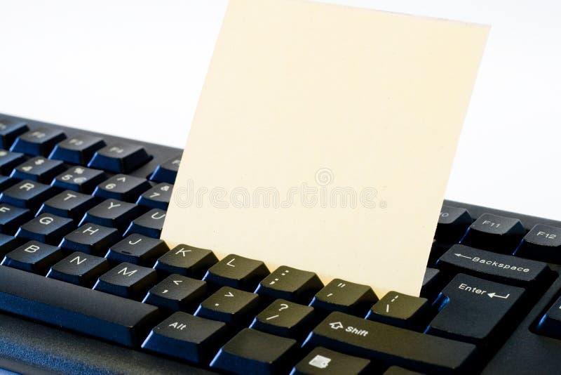 Nota sobre el teclado fotografía de archivo