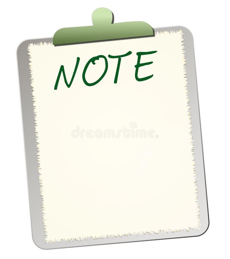 Nota sobre tarjeta terminal stock de ilustración