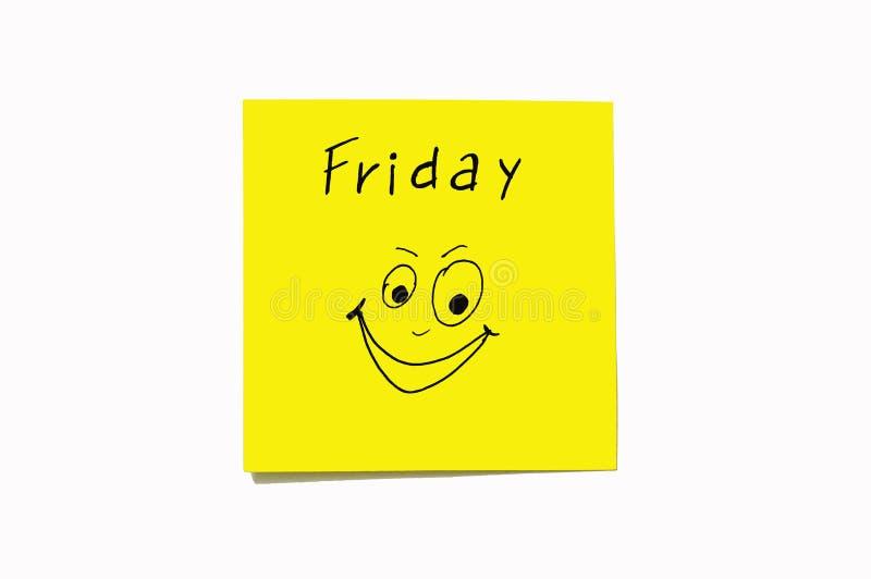 Nota'sstickers om de dagen aan de week te herinneren Grappige nota's met geschilderde emoties, die op de dagen van de week wijzen stock foto