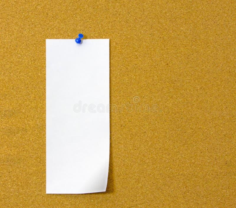 Nota sulla scheda del sughero fotografie stock