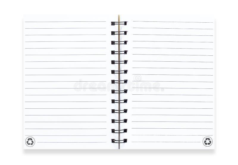 Notaboek op wit royalty-vrije stock fotografie