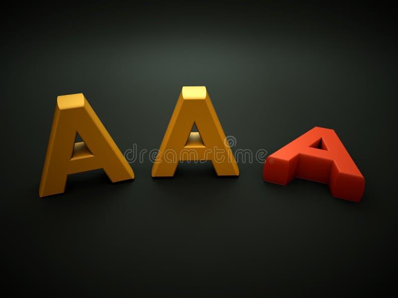 Notación del AAA que pierde ilustración del vector
