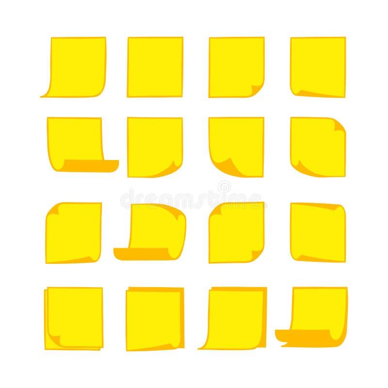 Notadocumenten Gele 2 vector illustratie