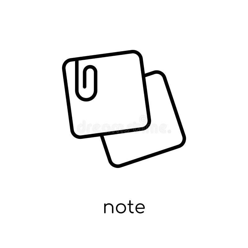 Notapictogram van inzameling royalty-vrije illustratie