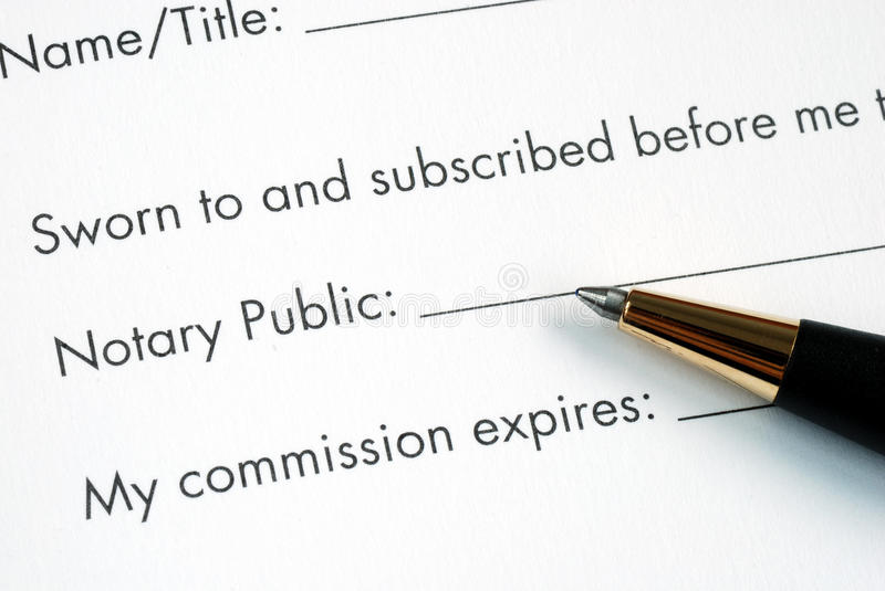 Notarized by the Notary Public royalty free stock images