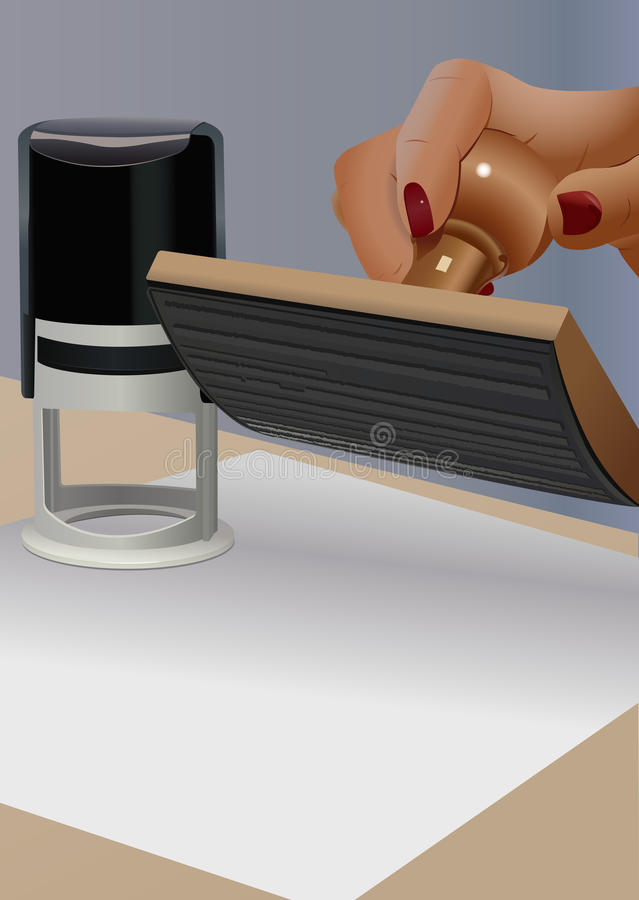 Download Notary stock illustration. Image of verification, work - 21686755