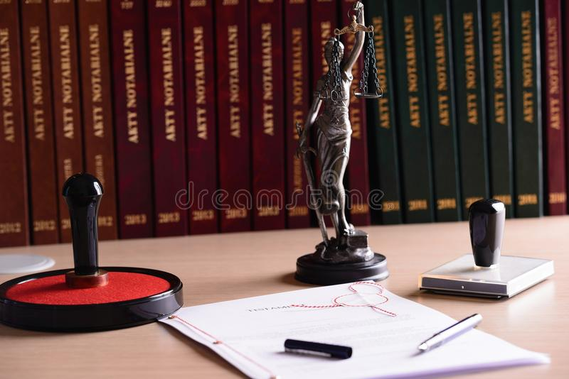 Notary public accessories. stock photography