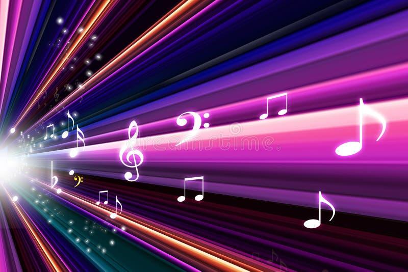Notas abstractas de la música libre illustration