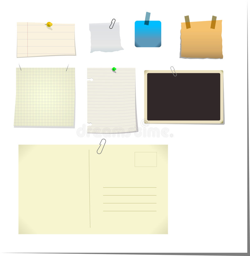 Notas & Stickies ilustração do vetor