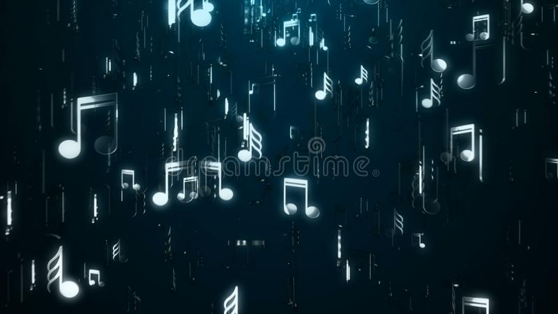 Notas blancas de la música abstraiga el fondo Ejemplo de Digitaces