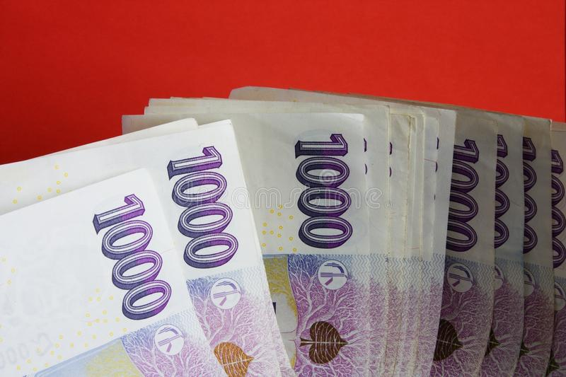 Notas checas da coroa fotos de stock royalty free
