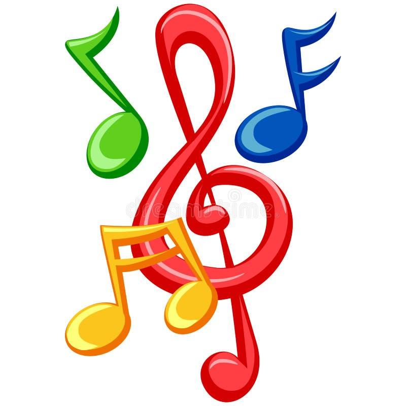Notas coloridas de la música libre illustration