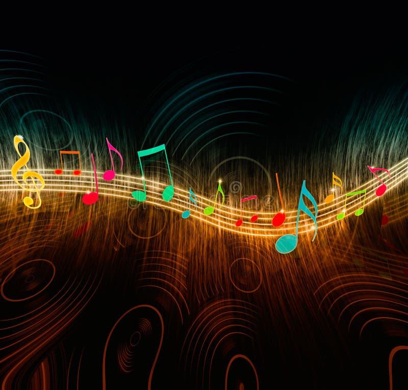 Notas creativas da música ilustração do vetor