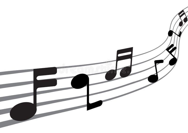 Notas da música ilustração do vetor