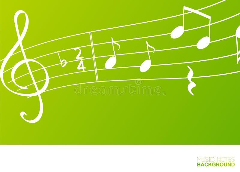 Notas da música, conceito do elemento do projeto ilustração stock