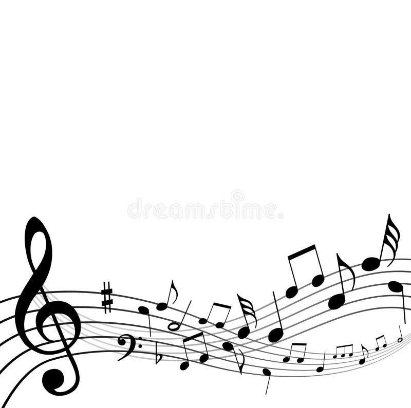 Notas da música de fundo ilustração stock
