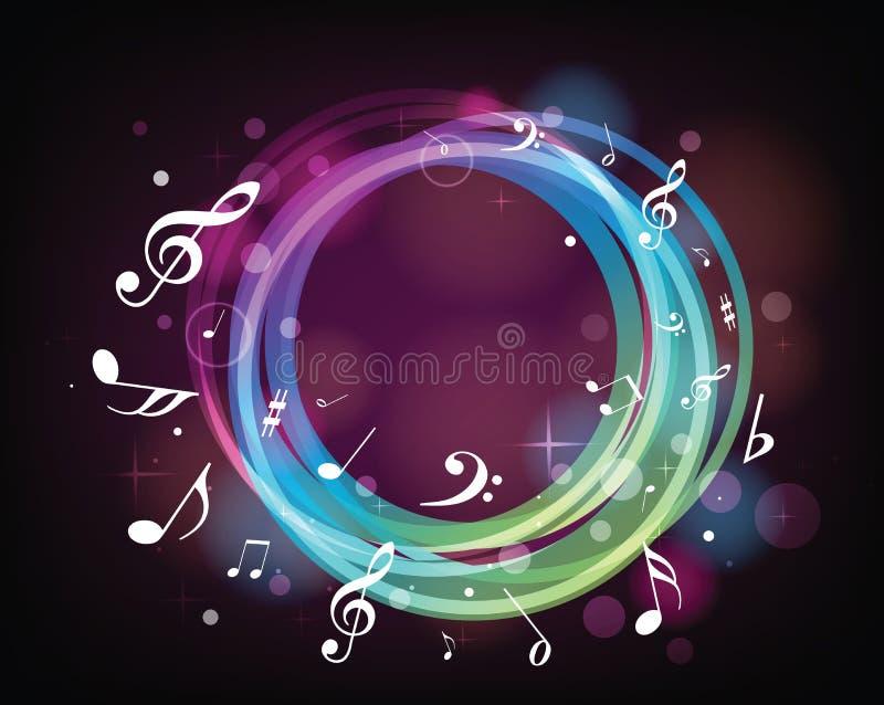 Notas da música de iluminação ilustração royalty free