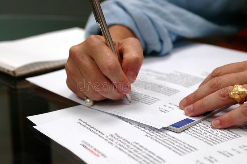 Notas Da Reunião De Negócio Fotos de Stock