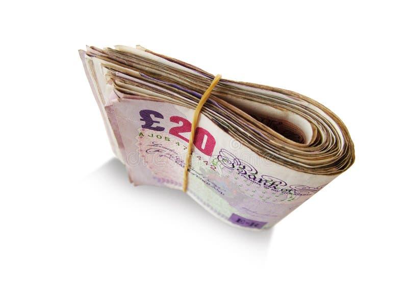 Notas de banco britânicas imagem de stock
