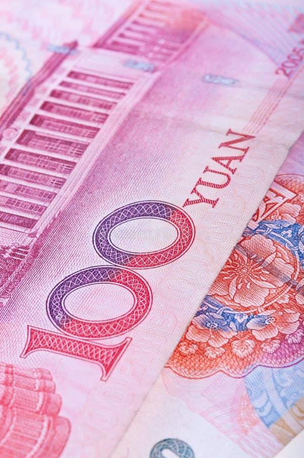Notas de banco chinesas de RMB fotografia de stock
