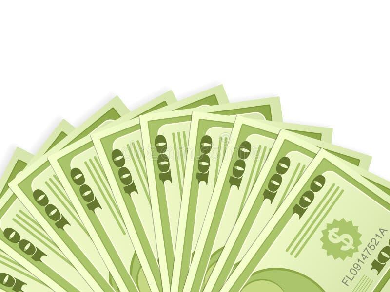 Notas de banco do dólar ilustração do vetor