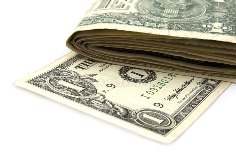 Notas de dólar americano fotografía de archivo libre de regalías