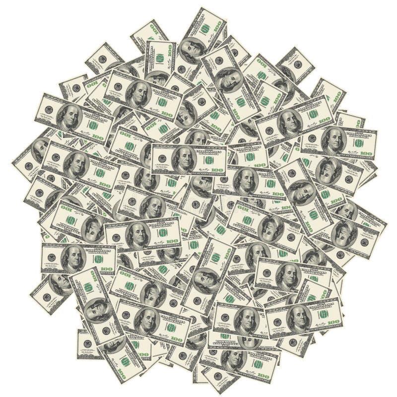 Notas de dólar do americano cem ilustração stock