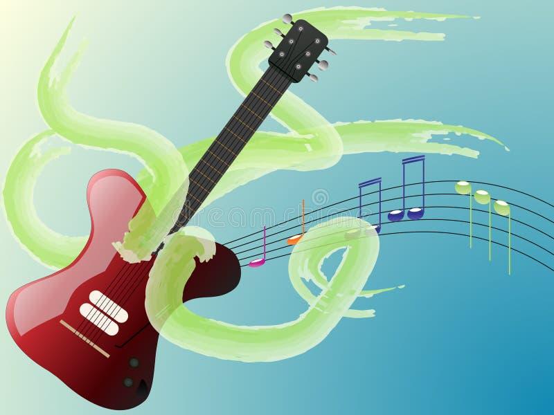 Notas de la guitarra imágenes de archivo libres de regalías