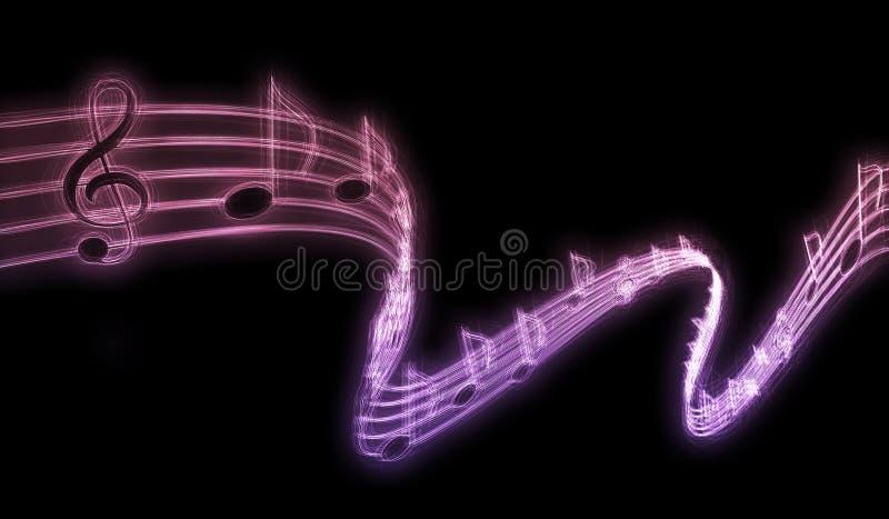 Notas de la música imagenes de archivo
